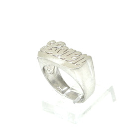 "Sterling Silver ""Loren"" Name Ring"