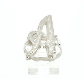 Sterling Silver A Initial Ring 81010384