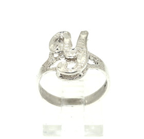 Sterling Silver Y Initial Ring 81010391
