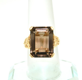 14K Yellow Gold Smokey Topaz Ring  12002455