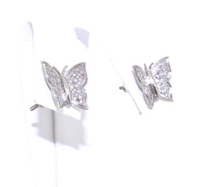 Sterling Silver Diamond Butterfly Earrings 84110001