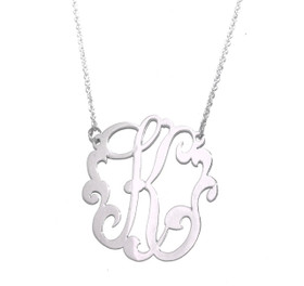 Monogram Sterling Silver K Initial Necklace 85010224