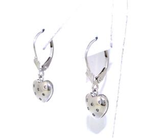 14K White Gold Diamond Lever Back Earrings  41002051