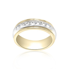 14K Two Tone Handmade Diamond Wedding Band  11000840