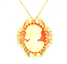 14K Yellow Gold Cameo Pin & Charm  52001770