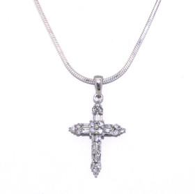 10K White Gold Baguette Diamond Charm 59110035