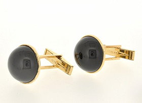 14K Yellow Gold Onyx Cuff Links 89910070