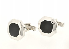14K White Gold Onyx Cuff Links 72010017