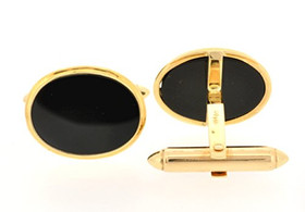 14K Yellow Gold Onyx Cuff Links 89810000