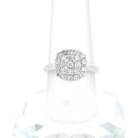 14K White Gold Diamond Cluster Ring 11005036
