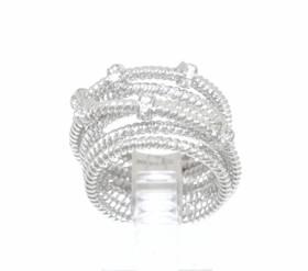 14K White Gold  Diamond Criss  Cross Ring 11002506
