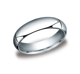 14K White Gold 6mm Wedding Band 10017069