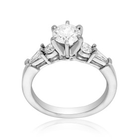 14K White Gold EGL Certified .76 ct. Diamond Engagement Ring -R