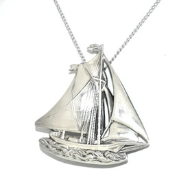 Sterling Silver Sail Boat Pin 53000065