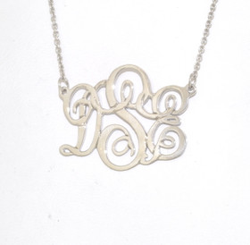 Sterling Silver Monogram Initial DSE Necklace 83310021