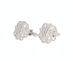 Sterling Silver Monogram Initial MA Cuff Links 80000582