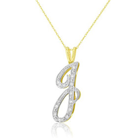 "14K Yellow Gold Diamond Initial ""J"" Charm51001754"