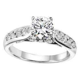 Sterling Silver Fancy CZ Engagement Ring 81010495