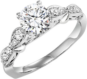 Sterling Silver Fancy CZ Engagement Ring 81010491