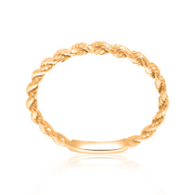 14K Pink Gold Twisted Knuckle Ring 10017107