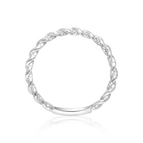 14K White Gold Twisted Knuckle Ring 10017105