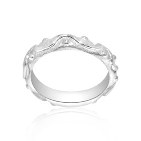 14K White Gold Fancy Band 10017112