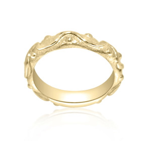 14K Yellow Gold Fancy Band 10017113