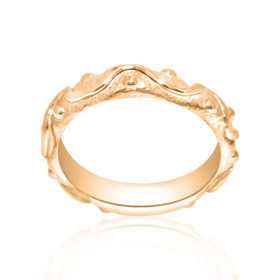 14K Pink Gold Fancy Band  10017111