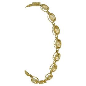 "14K Yellow Gold 7.25"" Citrine Gem Stone Bracelet"