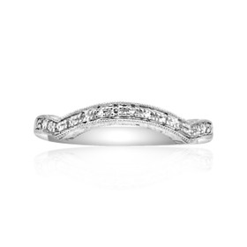 14K White Gold Diamond Band 11005278