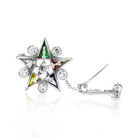 14K White Gold 0.5 ct Diamond Antique Masonic Pin 53110010