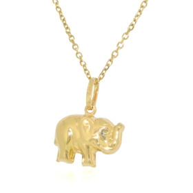 14K Yellow Gold Elephant Charm 50003045