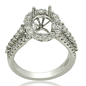 18K White Gold Diamond Engagement Ring Setting 11005957