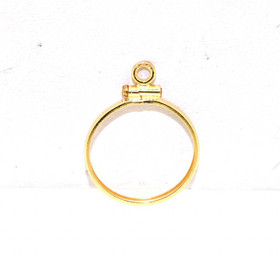 14K Yellow Gold Coin Holder Charm