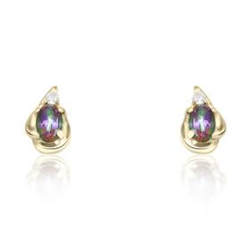 10K Yellow Gold Mystic Topaz Earrings 49000118
