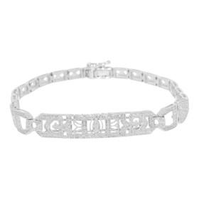 14K White Gold Diamond Fancy Bracelet 21000528