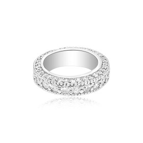 14K White Gold Diamond Band 11005311
