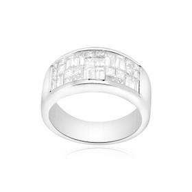 14K White Gold Diamond Band 11001623