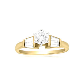 14K Yellow Gold Diamond Engagement Ring 11005266