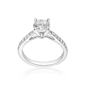 14K White Gold Diamond Engagement Ring Setting 11005338