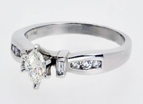 Platinum 0.40ct Marquis Diamond Engagement Ring 11000392
