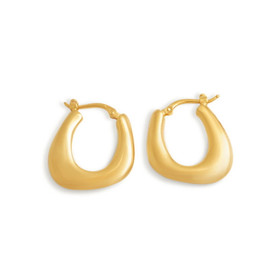 14k Yellow Gold Electroform Hoop Earrings 40002257