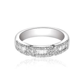 18K White Gold Diamond Wedding Band 11005365
