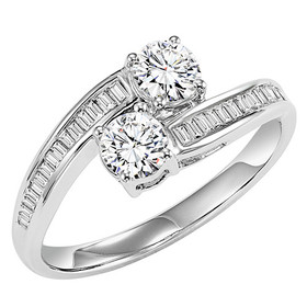 14K White Gold Twogether Diamond Ring TWO3006/50