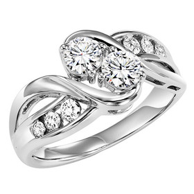 14K White Gold Twogether Diamond Ring TWO3007/50