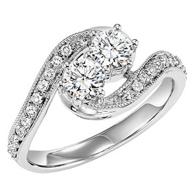 14K White Gold Twogether Diamond Ring TWO3008/50