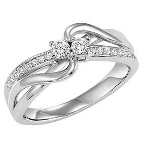 14K White Gold Twogether Diamond Ring TWO3014