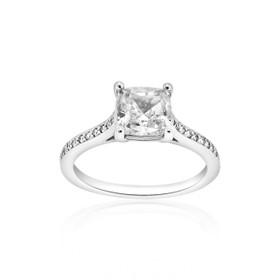 14K White Gold Diamond Engagement Ring Setting 11005336