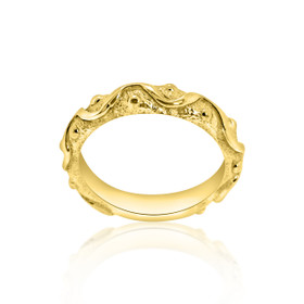 14k Yellow Gold Fancy Band 10017127