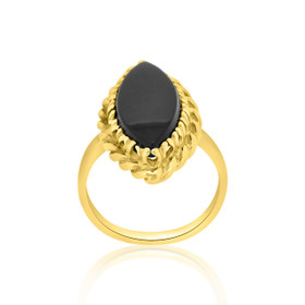 14K Yellow Gold Onyx Ring 12000847